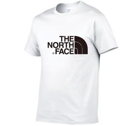 Летняя тренда t рубашка онлайн-Лето хлопок мужская дизайнерская футболка 2019 последние логотип печать модной одежды футболка мужская северная спортивная тенденция с короткими рукавами
