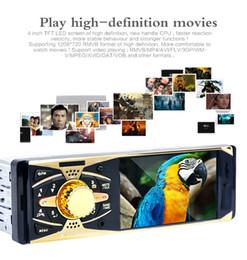 2019 televisores do painel do carro 4 polegada Tela Bluetooth V2.0 Câmera de Visão Traseira Do Carro de Áudio Estéreo 12 V Auto MP5 Player de Vídeo AUX FM USB SD MMC com Controle Remoto Frete Grátis
