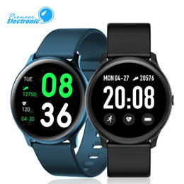 fitness armbänder Rabatt New KW19 Smart Watch Armband Fitness Tracker-Touch 1.3-Zoll-Screen-Herzfrequenz-Messung Smartwatch für Samsung-Galaxie Uhr aktiv