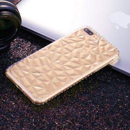 téléphone transparent vivo Promotion Coque Transparent Diamant Texture Pour iPhone X XR XS Max Couverture de téléphone TPU souple pour Huawei Mate 20 20PRO VIVO NEX X21
