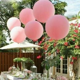 große aufblasbare kugeln Rabatt 36 Zoll 90cm große bunte Ballon-Latex-Ballone, die Dekoration-aufblasbare Helium-Luft-Kugeln alles- Gute zum Geburtstagparty-Ballone 18 Farben Wedding sind