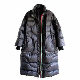 casacos americanos para senhoras Desconto Para baixo casaco feminino estrela com o parágrafo inverno novo europeu e americano solto branco pato mulheres casaco feminino outerwear senhora