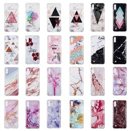 samsung galaxy core covers Coupons - Marble Soft TPU IMD Case For Galaxy M10 M20 J4 J2 Core A8S LG G8 Huawei Nove 4 Enjoy 9 P30 Lite Natural Granite Stone Rock Luxury Gel Cover