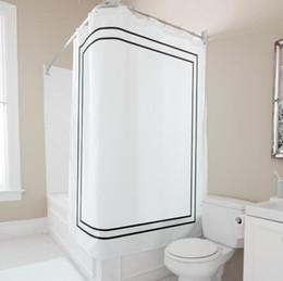 2019 country set da bagno Fashion Classic Bianco Nero Plaid Tenda da bagno Tenda da bagno Elegante semplice doccia Set da bagno Trendy in poliestere