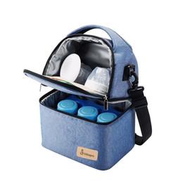 Sac de déjeuner thermique de haute qualité Maman Maternité Nappy Pouch Voyage Pique-nique Enfants Lait Zip Box Case Sac à Main Accessoires ? partir de fabricateur