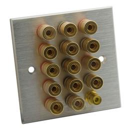 2019 tipos de conectores de altavoz Tipo 86 7.1 Panel de Altavoces Amplificador de Aleación de Aluminio Conectores de Altavoces Cabeza de Plátano Con Forma de Toma de Altavoz Soporte Personalización tipos de conectores de altavoz baratos