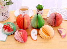 2019 notas da folha Único Criativo fruto em forma de 3D bonito pêra Memo Pad Papel Sticky Notes notebook frutas, bloco de notas bloco de notas