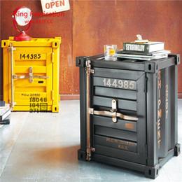 Американские контейнеры онлайн-Американский ретро железный контейнер шкаф творческий промышленный шкаф ящик для хранения