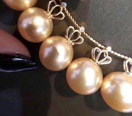 Configuraciones de oro 14k online-Estilo de la corona clásica 14K Colgante Oro Ajustes montajes de piezas de resultados de la joyería de perlas de coral ágata de perlas de cristal Piedras