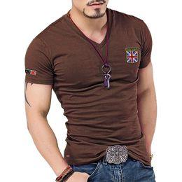 6b4b6e19def58 mens designer t-shirts t-shirt été personnalité des hommes fantaisie  drapeau de riz à manches courtes drapeau britannique broderie col en V T-shirt  serré
