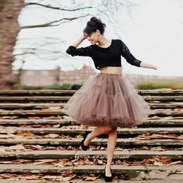 klassisches tüllkleid für mädchen Rabatt Klassische Kurze Tutu Tüll Ballkleid Prom Party Kleider Rock Schichten Falten Puffy Casual Dress Frauen Mädchen Röcke Günstige Nach Maß Plus Größe