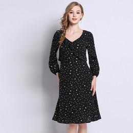 0f29a6ba1468de Plus size schwarz dot rüschen langarm tunika dress frauen elegant lässig  straße sweet partei mode strand dress dame clothing günstig schwarzes ...