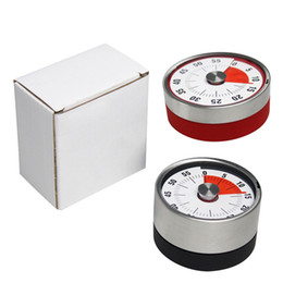 alarm clock mini timer Promo Codes - Mini Mechanical Countdown Kitchen Tool Stainless Steel Round Shape Cooking Time Clock Alarm Magnetic Timer Reminder