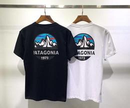 2019 dragão de estilo americano Marca de moda Mens Womens Hip Hop Camisetas PATAGONIA Paisagem Imprimir Tshirts de Manga Curta Mens Skate Streetwear Tees Tops
