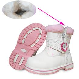 scarponi da neve bianchi per bambini Sconti Stivale per bambini in pelle PU bianco 1 paio, -20 gradi Stivali da neve morbidi da bambina Stivali da bambino caldi invernali, Scarpe KIDS di marca