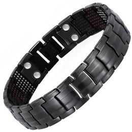 bracelet négatif Promotion Bracelet énergie équilibrée Bracelet magnétique en ions négatifs 4 en 1 et titane