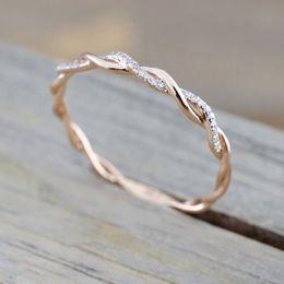 pedras verdes azeitonas Desconto Cristal Trança Anel de Diamante Torcido Anéis de Noivado Anéis De Casamento Designer de Jóias Da Moda Anel para As Mulheres Presente