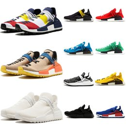 Adidas PW HU Holi NMD MC 2019 Human Race Herren Laufschuhe Mit Box Pharrell Williams Probe Gelb Kern Schwarz Sport Designer Schuhe Frauen Turnschuhe