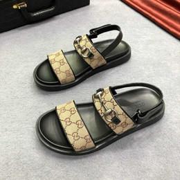 2019 новые летние мужские ретро обувь мужские сандалии досуг высокое качество удобная мода металлические украшения cheap sandals metal от Поставщики сандалии металлические