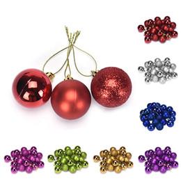 Canada 24pcs / pack ornements d'arbre de noël boule multicolore 3/4/6/8 cm boule en plastique cadeau pour la décoration de noël # 15 Offre