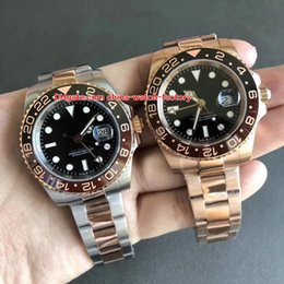 relógios suíços Desconto Luxo Top Quality Top Fábrica 40mm GMT 126715 126711 126715CHNR 126711CHNR Cerâmica Swiss ETA 2836 Movimento Automático Mens Watch Watches