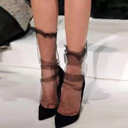 calze ultra sottili da donna Sconti Ragazza signore calze da principessa in garza ultra-sottile Sox Chiffon trasparente in maglia ciglia calze di pizzo in cotone spandex calzini