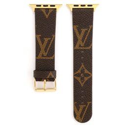 boucle en cuir pomme Promotion Bracelet de marque de luxe pour bracelets intelligents Apple Watch série iWatch 4 3 2 1 Bracelets en cuir PU Boucle de sport 42 / 44mm 38 / 40mm