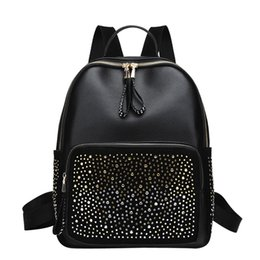 HTNBO 2019 Women Backpacks Fashion PU Leather Shoulder Bag Rivet Small  Backpack College School Bags for Women Travel Rucksack backpack for college  small on ... e0b7a83751a68