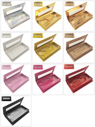 2019 emballage de boîte de maquillage Cils personnalisés Emballage Boîtes Boîte-cadeau Cils Paquet Personnaliser Des Cas De Stockage Maquillage Cas Cosmétique Vison Faux Cils 1 Pcs emballage de boîte de maquillage pas cher