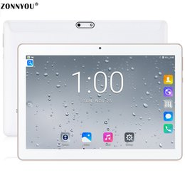 Canada Appels téléphoniques 3G Tablette PC 10.1 pouces Android 7.0 Wi-Fi Bluetooth 4GB / 32GB Octa Core 1.5GHz Dual SIM Support GPS (Blanc) cheap android tablet pc white Offre
