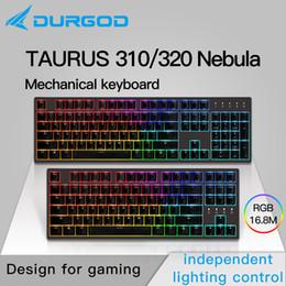 luci mx Sconti durgod 87 104 320 310 Nebula rgb meccanica tastiera illuminazione mx ciliegio PBT doubleshot marrone nero blu silenzioso rosso argento
