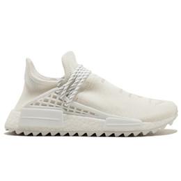 Muestras de mujer online-36-45 Con Box 2019 Human Race Zapatillas para correr para hombre Pharrell Williams de muestra Amarillo Core Negro Sport Designer Shoes Mujer Zapatillas de deporte