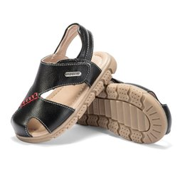 2019 schwarze sport-sandale Abckids Sommer Jungen Kinder Casual Sandalen Kinder Mode Sport Sandalen atmungsaktiv langlebig schwarze Schuhe flache Absätze Freizeitschuhe günstig schwarze sport-sandale