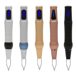 Canada DMC-036 Micro Aiguilles Stylo Gestion Numérique Électrique Machine Permanente Pour Maquillage Tatouages Lèvre Sourcils Eyeliner En Acier Inoxydable Rose Offre