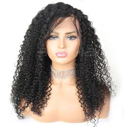 parrucche di merletto di struttura viziosa Sconti Parrucche di capelli per capelli umani Ricci crespi Capelli naturali Colore nero Due o più articoli sono scontati