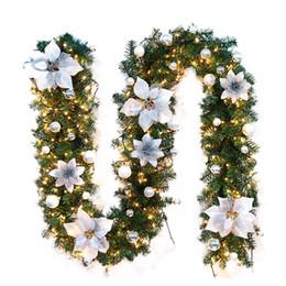 Guirlandas de natal ao ar livre on-line-New 2,7 M Árvore LED Ornamento de suspensão do Rattan Decoração colorida para a decoração festa de Natal Casamento Casa Outdoor Garland grinalda