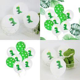 Puntini di partito per palloncini online-5 Dot 5 Dinosauro Palloncini da 12 pollici Lattice Happy Birthday Party Supplies Decorazione Stampa Bambini Gioca Palloncino Toy 3 9gn hh