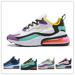 2019 release 27react bauhaus hyper pink bright violet armors black and off noir men running shoes athletic sneakers designer trainers