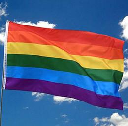 Drapeau Arc En Ciel 3x5FT 90x150cm LGBT Bannière Polyester Coloré Drapeau Arc En Ciel Pour La Décoration 3 X 5FT Drapeau KKA6888 ? partir de fabricateur