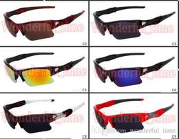 популярные очки Скидка лето мужчины популярные половина кадра солнцезащитные очки спортивные очки Женщины Велоспорт открытый солнцезащитные очки езда вождения очки 9 цветов бесплатная доставка
