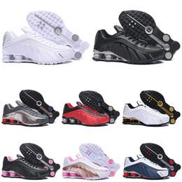 2019 zapatos tenis shox Nike shox 301 Hombres Zapatillas de running oro azul rojo Triple blanco espalda Moda Hombres Trainer Tenis Deportes Zapatillas 36-46 zapatos tenis shox baratos