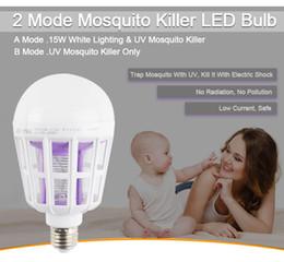lampadine del marchio di controllo Sconti Smart LED 2 Mold Mosquito Killer LED Blub 15W bianco illuminazione LED Mosquito Killer Lampada Light Blub Eco Friendly Photocatalyst Mosq