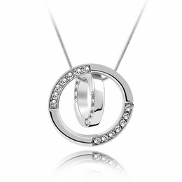 dresses singapore Coupons - Labekaka Crystal Round Pendant Necklace Dress Banquet Classic Popular Women Jewelry