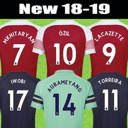 6f464725dde25 Hombres de fútbol de calidad superior Barato Jersey 18 19 AUBAMEYANG  MKHITARYAN JERSEY TORREIRA Camiseta de fútbol Boy Soccer Jersey Niños Kits  Camisetas ...