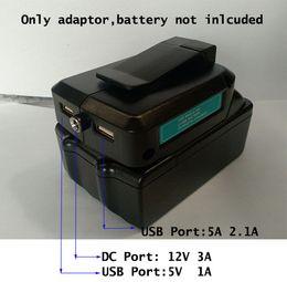 Batterie per makita online-Per adattatore batteria Li-ion MAKITA 14,4 V / 18 V a fonte di alimentazione DC 12V 3A e Dual USB 5V 1A / 2.1A