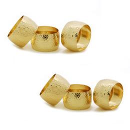 venta al por mayor suministros de recepción de boda Rebajas 4PCS Metal Alloy Vintage Napkin Wedding Hotel Banquet Napkin Ring Gold   Bronze