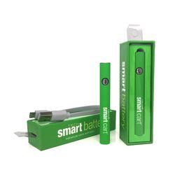 batterie rapide Sconti Ecig cartuccia olio denso preriscaldamento batteria a tensione variabile 510 thread 380mah rapido pre-calore batteria intelligente penna vape fit smartcarts AC1003 M6T