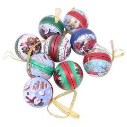 casi di latta natale Sconti Natale Candy Box Jar Lovely Clear Natale Santa Elk Pupazzo di neve Sweet Sugar Case Tin Plate Candy Jar Round Creativo Bello