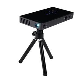 проекционные мобильные телефоны Скидка Мини-проектор P8 1080P DLP Micro проектор для мобильных телефонов Android 7.1 1G RAM 8G ROM Умный домашний кинотеатр Театр Видеопроекторы