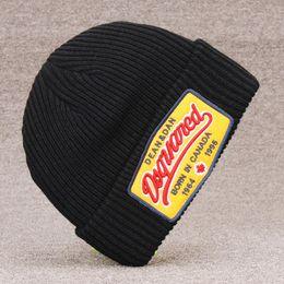 chapéu feijão feijão marca do tampão do inverno resistente dos homens e chapéu do inverno chapéu d2 malha de lã de luxo de alta qualidade das mulheres fria de